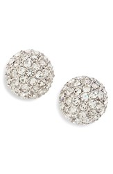 Nadri Women's Small Pave Stud Earrings Silver