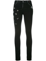 Twin Set Embellished Skinny Jeans Black