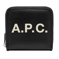 A.P.C. Morgan Logo Zip Wallet Black