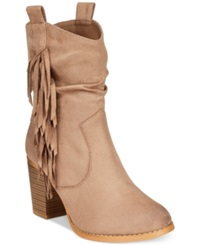 Wanted Memphis Slouchy Western Booties Women's Shoes Taupe