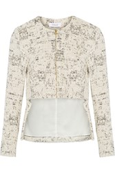 10 Crosby By Derek Lam Woven Cotton Blend Jacket White