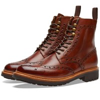Grenson Fred C Brogue Boot Brown