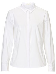 Betty And Co. Cotton Stretch Blouse Bright White