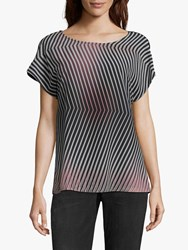 Betty And Co. Layered Chevron Top Rose Black