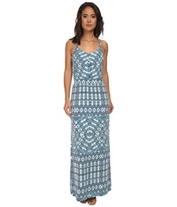 Tart Alyda Maxi Aqua Aztec Women's Dress Blue