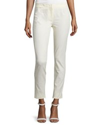 Cnc Costume National Mid Rise Skinny Trousers Cream