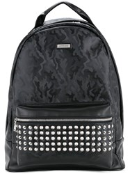 Loveless Camouflage Studded Backpack Men Artificial Leather One Size Black