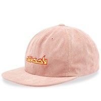 Stussy No Wale Cord Cap Pink