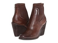 Frye Carrie Scrunch Back Zip Dark Brown Antique Pull Up Cowboy Boots