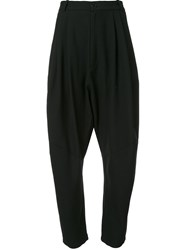 Henrik Vibskov Pleated Tapered Trousers Black