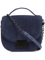 Loeffler Randall Top Handle Crossbody Bag Blue