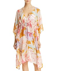Echo Cambon Floral Dress Swim Cover Up Caribbean