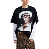 R 13 Biggie Graphic Cotton Oversized T Shirt Black