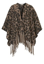Betty Barclay Fringed Poncho Multi Coloured Multi Coloured