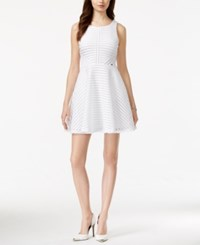 Guess Fishnet Fit And Flare Dress