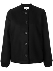 Ymc Tailored Bomber Jacket Cotton Acrylic Nylon Virgin Wool Black