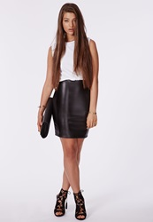 Missguided Faux Leather Bodycon Dress White
