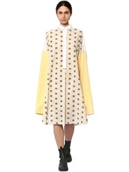 Loewe Oversize Embroidered Shirt Dress White