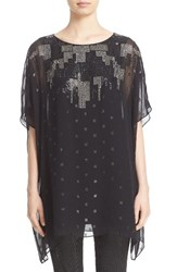 St. John Women's Collection Metallic Silk Fil Coupe Tunic
