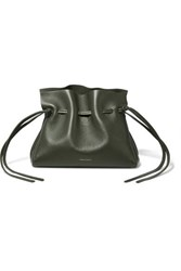 Mansur Gavriel Protea Mini Leather Shoulder Bag Army Green