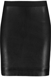 Helmut Lang Stretch Leather Mini Skirt Black