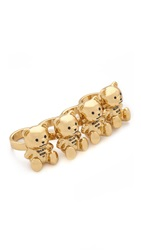 Moschino Bear Rings Gold