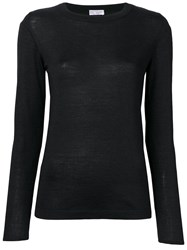 Brunello Cucinelli Long Sleeve Fitted Sweater Black