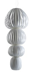 Lzf Totem 4 Suspension Lamp Ivory White Multivolt Multicolor