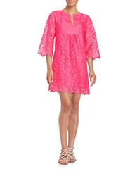 Trina Turk Lace Tunic Dress Flamingo Pink