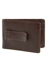 Boconi Men's 'Tyler' Money Clip Wallet Brown Coffee