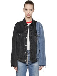 Off White Levi's Patchwork Cotton Denim Jacket