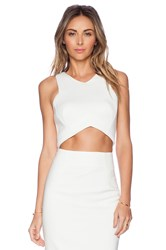 Minty Meets Munt Oriel Cropped Top White