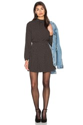 Bishop Young High Neck Long Sleeve Dress Black