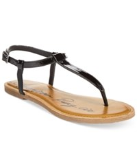 American Rag Krista T Strap Flat Sandals Only At Macy's Women's Shoes Black