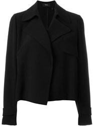 Theory Cropped Trench Coat Black
