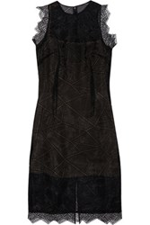 Christopher Kane Broderie Anglaise Organza Dress Black