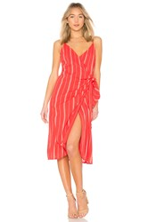 Amuse Society Bordeaux Blooms Dress Red