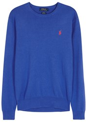 Polo Ralph Lauren Blue Pima Cotton Jumper Royal Blue