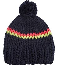 Hat Attack Women's Chunky Striped Navy