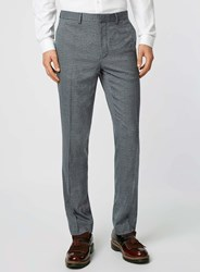Topman Grey And Teal Puppytooth Skinny Fit Suit Trousers