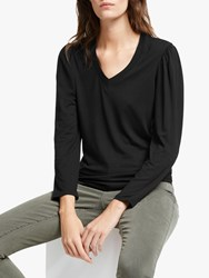 And Or Louisa V Neck T Shirt Black