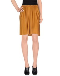 Gold Case Skirts Knee Length Skirts Women