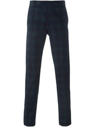 Paolo Pecora Checked Tailored Trousers Blue