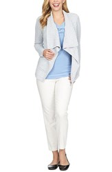 Women's Chaus Marled Open Front Cardigan Dew