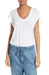 Vince Women's Distressed Muscle Tank White