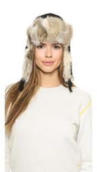 Inverni Fur Trapper Hat Black