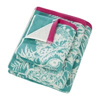 Harlequin Toco Towel Lagoon And Cerise Pink Turquoise