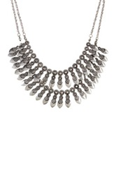 Stephan And Co Dual Layer Statement Necklace Metallic