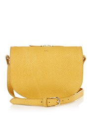 A.P.C. Andrea Python Embossed Cross Body Bag Dark Yellow