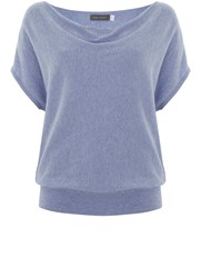 Mint Velvet Cloud Short Sleeve Batwing Light Blue
